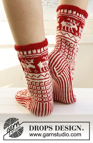 Christmas socks. Photo credit: Drops desin